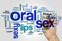 Stock Illustration of Oral sex word cloud concept