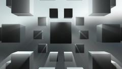 Blocks cubes abstract motion background Stock Footage