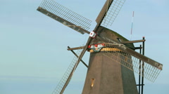 Dutch Windmill - Closeup - stock footage