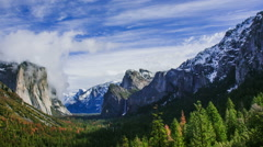Time Lapse - Beautiful Clouds Moving Over Yosemite Valley, USA Stock Footage
