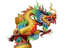 Chinese style dragon statue. Stock Photos