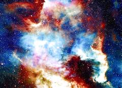 Nebula, Cosmic space and stars, blue cosmic abstract background. Elements of Stock Illustration