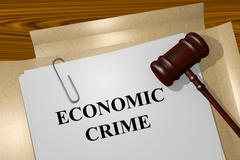 Economic Crime concept - stock illustration