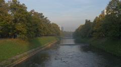 View of Miljacka River in Sarajevo Stock Footage
