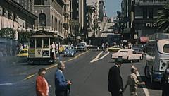 San Francisco 1975: people crossing the street Stock Footage