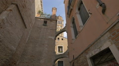 Connecting arches between buildings in Venice Stock Footage