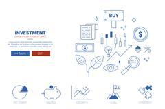 Investment website concept - stock illustration