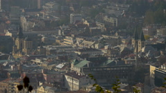 Churches and buildings seen from above, in Sarajevo - stock footage