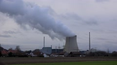 Nuclear power plant in Germany - stock footage