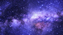 Glowing Earth with Galaxy Behind it, 4K Stock Footage