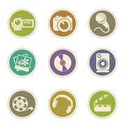 Social Media Icons - stock illustration