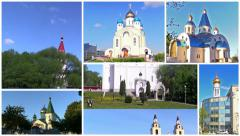 Minsk, Belarus, May 2015. Cathedral of the Holy spirit - stock footage