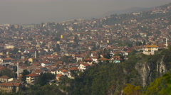Great view of Sarajevo seen from above Stock Footage