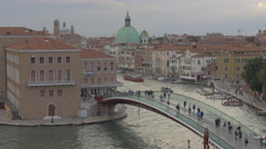 Constitution Bridge and the buildings of Venice Stock Footage