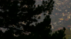 Pan view of buildings in Sarajevo Stock Footage