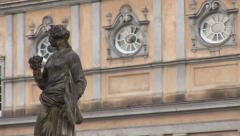 Statue of the castle of Charlottenburg Stock Footage