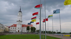 Mogilev, Belarus. Town Hall, Museum of the History of Mogilev Stock Footage