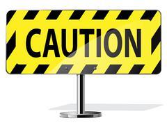 Caution road sign Stock Illustration