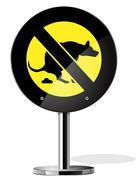 Stock Illustration of Dog walking is prohibited