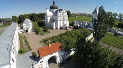 St. Nicholas Monastery Complex is a monument of Baroque architecture Stock Footage