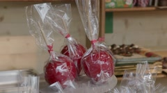 Candied Apples Stock Footage