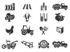 agricultural icon - stock illustration