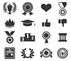 Trophy and prize symbol Stock Illustration