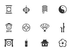 Chinese New Year simply icons Stock Illustration