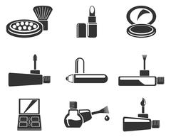 Make-up products icons Stock Illustration