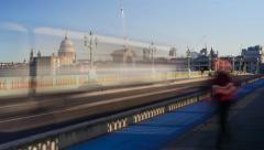 Southwark Bridge 4K TIMELAPSE Stock Footage