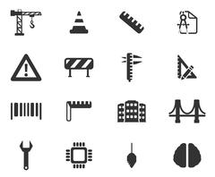 Engineering simply icons - stock illustration
