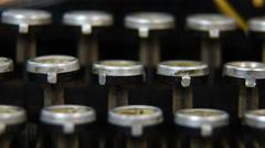 Typewriter Keys Track left Stock Footage