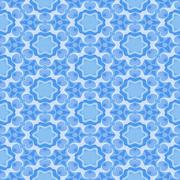 Beautiful seamless pattern in blue - stock illustration