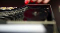 Typing on Vintage Typewriter. - stock footage