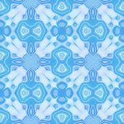Seamless mosaic pattern or background in blue Stock Illustration