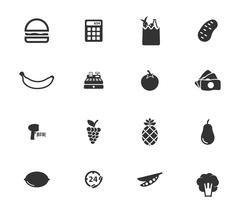 Grocery simply icons - stock illustration