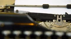 Typewriter Type Blank Sign Stock Footage