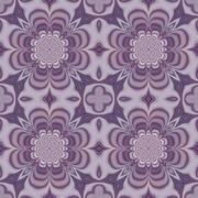 Seamless ornate pattern or background in violet - stock illustration