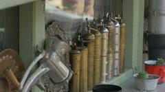 Metal souvenirs in Sarajevo - stock footage