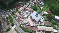 REVERSE HIGH ANGLE 4K AERIAL OF MASJID BESAR AL-HIDAYAH MOSQUE Stock Footage