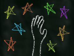 Reach for the Stars - stock illustration