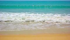 Gentle Waves on a Pristine, Tropical Beach. FullHD video Stock Footage