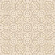 Old lace beige and white background, ornamental flowers - stock illustration