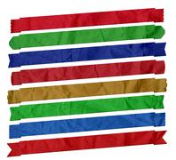 Set of Wrinkled Banner Ribbons (Isolated on white) Stock Illustration