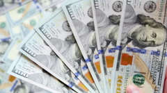 UltraHD video of counting money - stock footage
