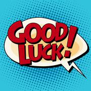 Good luck comic strip text Stock Illustration