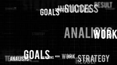 Business oriented words Stock Footage