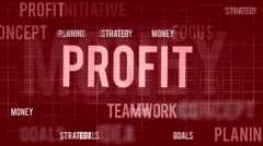 Business oriented words - stock footage