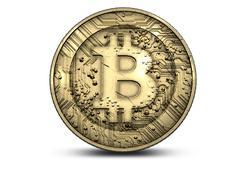 Bitcoin Physical - stock illustration