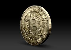 Bitcoin Physical - stock illustration